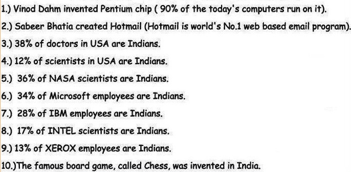 FACTS EVERY INDIAN SHOULD KNOW (MUST READ AND SHARE