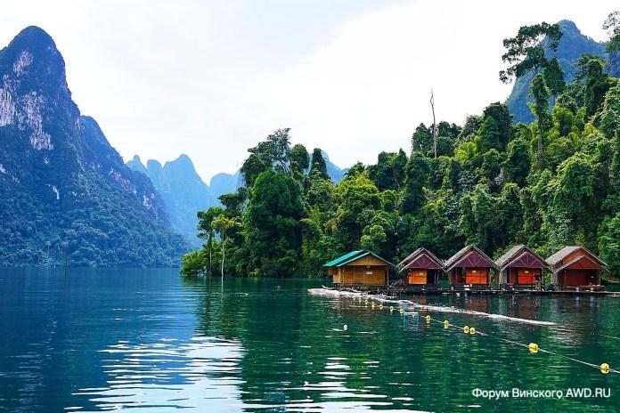 Озеро Чео Лан в парке Као Сок