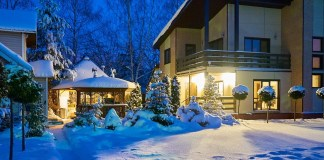 Дача зимой фото