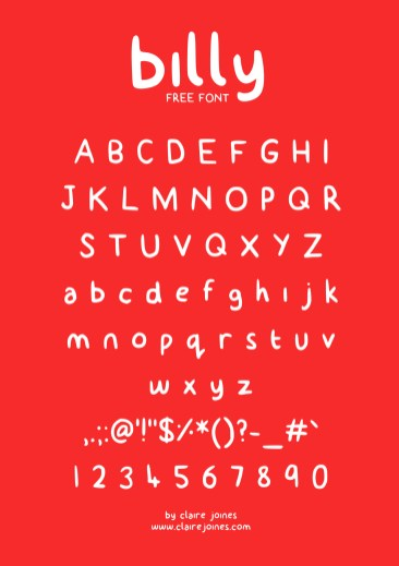 Billy typeface free