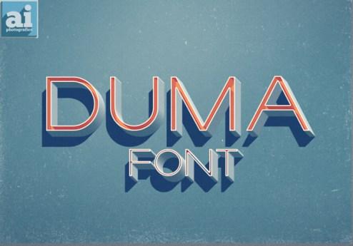 DUMA free font