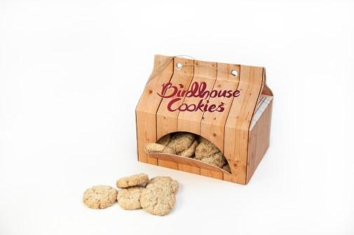 Концепт упаковки печенья / домика для птиц Birdhouse Cookies