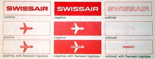 Логотип Swissair 1950