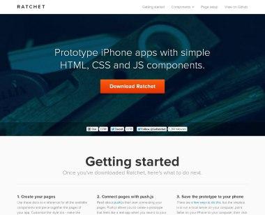 Ratchet — инструмент для быстрого прототипирования iOS-приложений на основе Twitter Bootstrap.