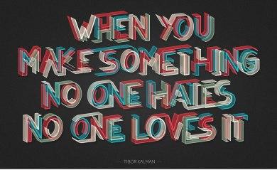 5 цитат о творчестве, оформленные Марио Де Мейером по заказу американского Института Графических Искусств