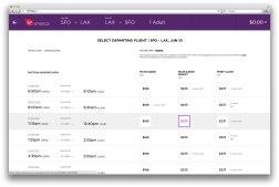 Авиакомпания Вёржин Америка забацала новый интерфейс бронирования билетов. Очень трендово и удобно.