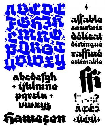 Работы шрифтового дизайнера Вивьена Горсе из Тулузы