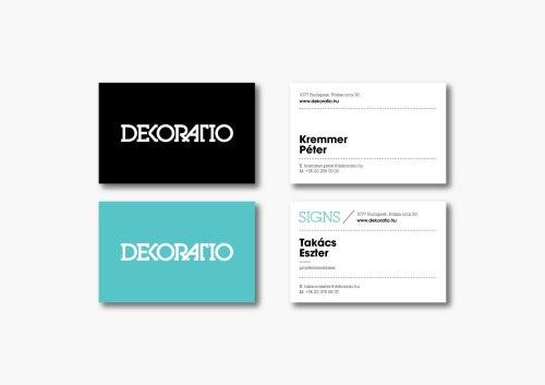 Фирменный стиль и интерьер студии дизайна DekoRatio