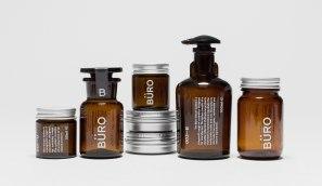 Нейминг, фирстиль и упаковка для серии натуральной мужской косметики Büro