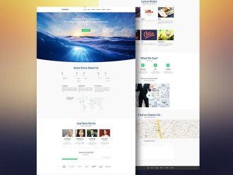 5 бесплатных шаблонов сайтов в PSD