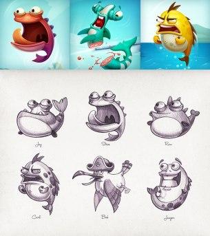 Свежие иллюстрации и персонажи пражского иллюстратора Майка aka Creative Mints