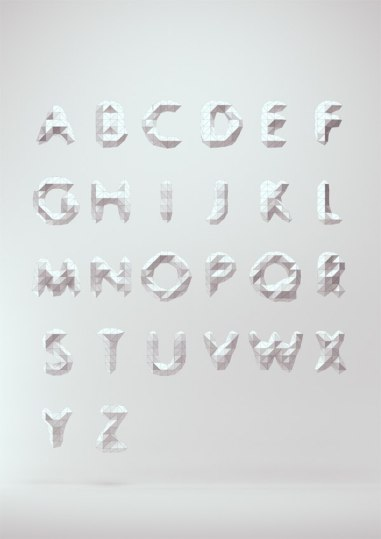 Low Poly Font, http://www.behance.net/gallery/Low-Poly-Font/6642303