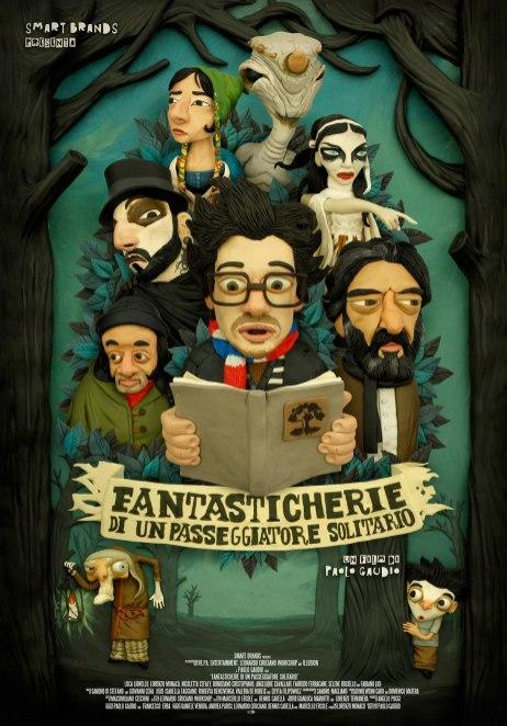 Плакат для итальянского кинофильма с персонажами из настоящего пластилина