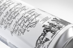 Дизайн упаковки ограниченной серии пива «Черниговское» с каллиграфией сестер Лопухиных