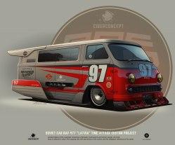 «Кастомные советские авто» — серия иллюстраций Андрея Ткаченко