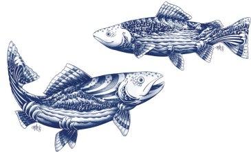 Логотип, стиль, иллюстрации и упаковка пищевого бренда Blue Goose Pure Foods