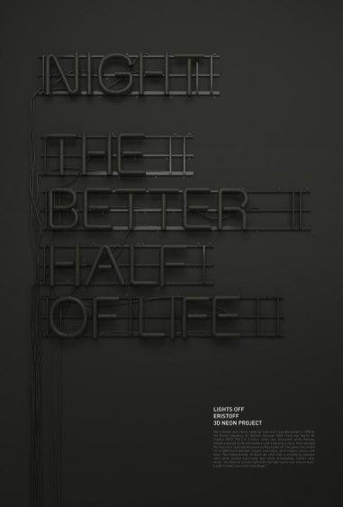 Прекрасная «неоновая» типографика Райзона Парейна