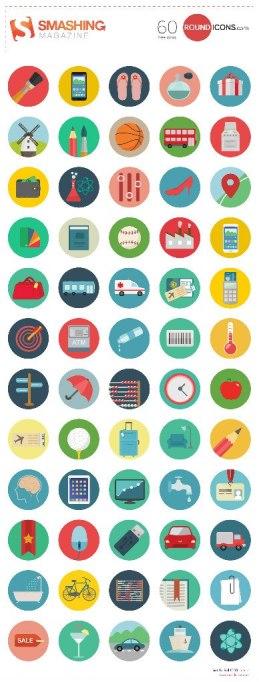 5 больших наборов бесплатных плоских иконок