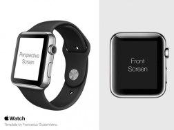 Эппл Вотч: шаблон для проектирования и 4 мокапа для презентации