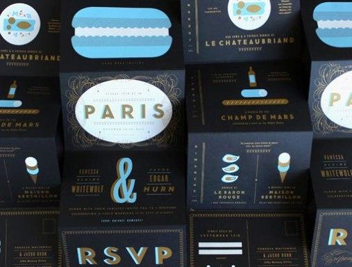 Приглашения на свадьбу в Париже