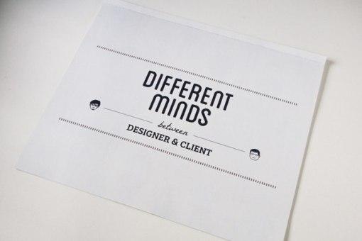 Брошюра про разницу мышления дизайнера и его клиента