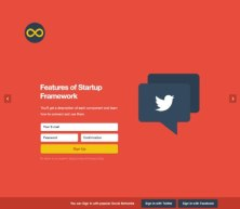 Новый веб-дизайн фреймворк от Designmodo, «Стартап» (PSD+HTML)