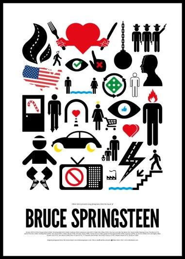 Рок-плакаты графдизайнера Виктора Херца рассказывают о жизни известных музыкантов языком пиктограмм.