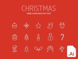 5 комплектов бесплатных рождественских иконок