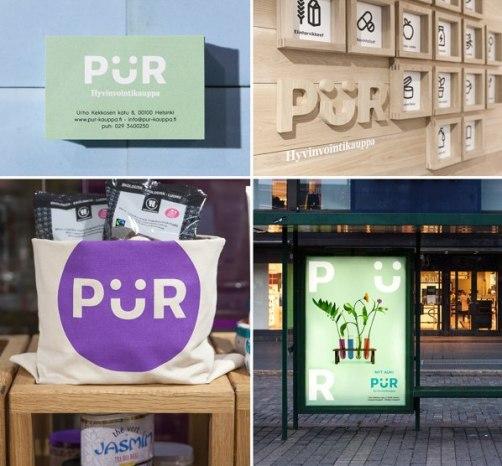 Фирменный стиль и интерьер магазинов PUR