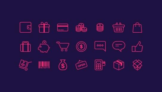 5 наборов бесплатных тонких иконок