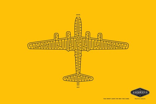 «You won't leave the way you came». Реклама американского Национального Музея Ядерной Науки и Истории (агентство 3 Advertising).
