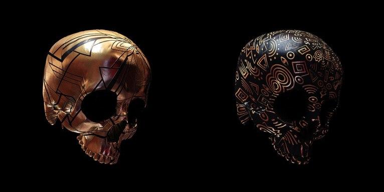 50 расписных черепов
