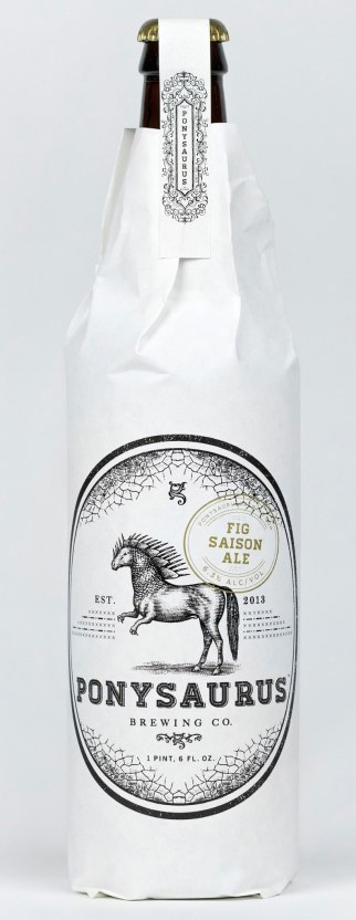 Фирстиль и упаковка пива «Понизавр»