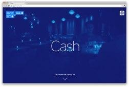 Cash — минималистский продукт, минималистский дизайн.