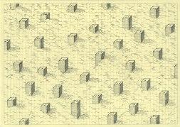 Энтони Дэсайли рисует оригинальные иллюстрации, в основе которых повторение простых предметов и образов.