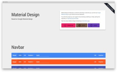 Bootstrap Material — бутстрап-тема на основе материального дизайна Гугла