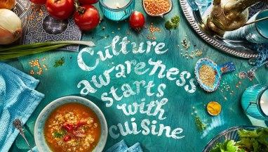 Сайт и фудстайл для бренда Yelli на тему «Кухни народов мира»