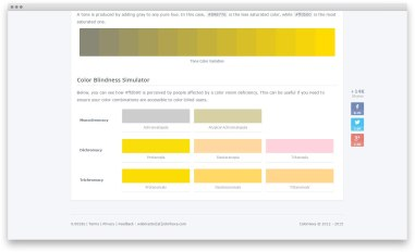 ColorHexa — сервис с информацией о любом цвете