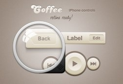 Халява: Coffee iPhone Retina App Controls