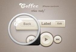 Халява: Coffee iPhone Retina App Controls