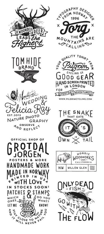 Логотипы Йоргена Гротдала из Норвегии