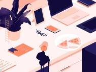 Изометрические иллюстрации Джоанны Лавничак из Польши
