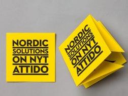 Фирменный стиль (вторая версия) финской компании Аттидо, созданный в финском же агентстве Бонд.