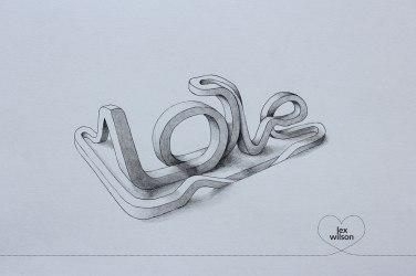 Трехмерная типографика Лекса Уилсона