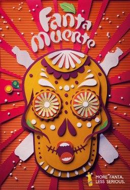 Постеры ручной работы для рекламной кампании Фанты