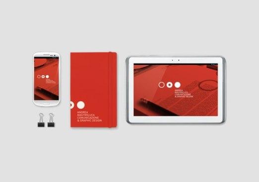 Персональный фирменный стиль итальянского графического дизайнера Андреа Мастролюка. #awd_identity #awd_logo