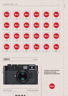 История логотипа Leica с 1913 по 2011 год