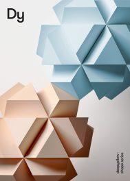 Плакаты студии Deepyellow с абстрактными трехмерными объектами