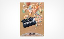 Реклама печатных машинок Olivetti, разработанная Милтоном Глейзером