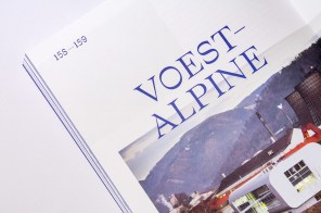 Дизайн фотожурнала Leoben с остромодной типографикой